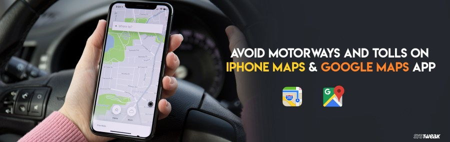 How To Avoid Motorways And Tolls On iPhone Maps   Google Maps App