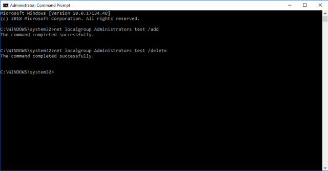 Use Command Prompt To Change User Account Type On Windows 10 3