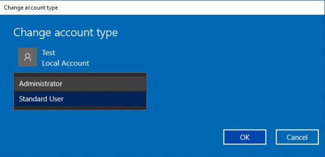 Use Settings To Change User Account Type 4