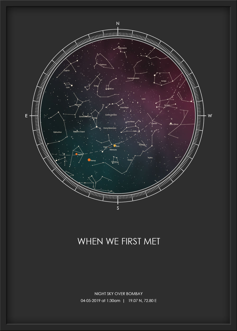 Star Map - Romantic Gift Ideas