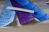 Kleisterpapiere mit Kamm