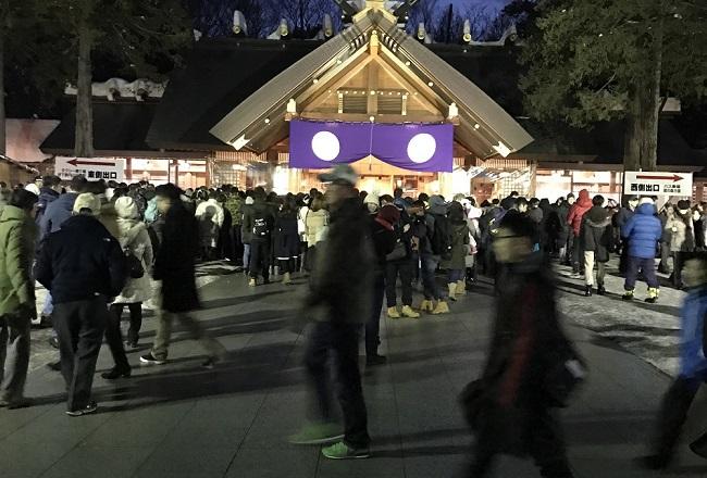 北海道神宮の初詣の混雑する時間
