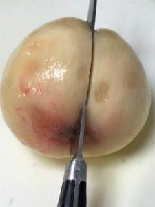 桃の下処理