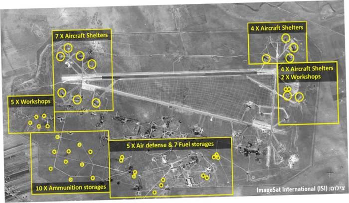 видны поражения 44 ракет, при этом не исключается, что несколько целей поражены дважды