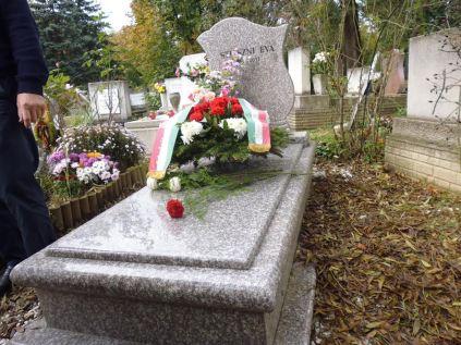 Stiaszni Éva sírja 2014.10.26-án - 1