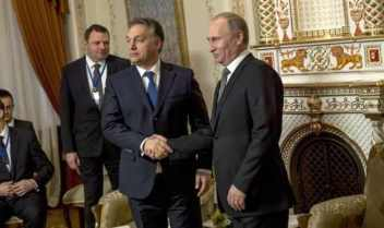 Orbán Viktor Magyarország miniszterelnöke és Vlagyimir Putyin, Oroszország elnöke