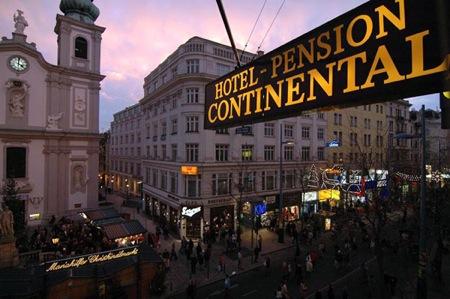 Continental a magyar panzió Bécsben utca kép
