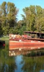 Hajó skanzen a holt Duna ágon - sziget