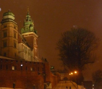 Krakkó egy téli éjszaka