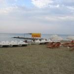 Paralia strand hajnalban