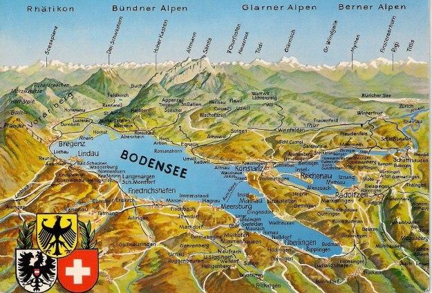 bodense térkép - turista fotó