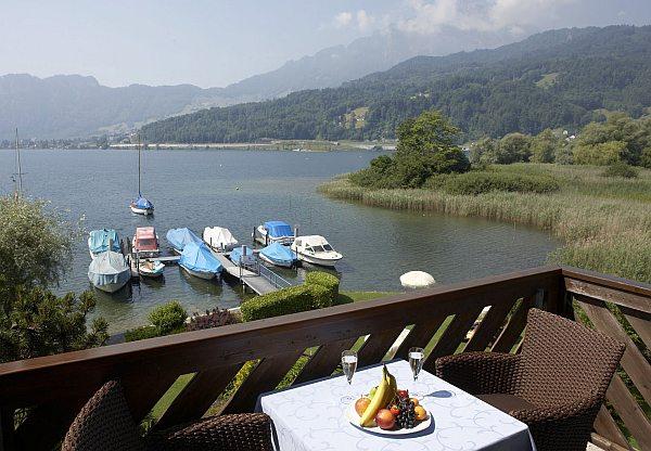 Seehotel Sternen kilátás a tóra