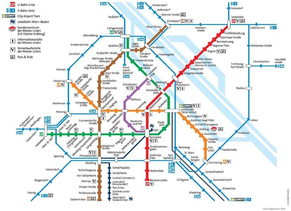 bécs térkép Bécs metro térkép   Szállás és látnivaló, nyaralás és utazás  bécs térkép