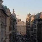 Genoa belváros, zsúfolt központ