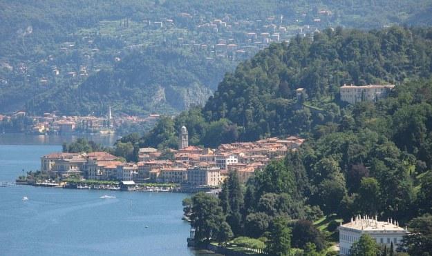 Bellagio tóparti kilátás