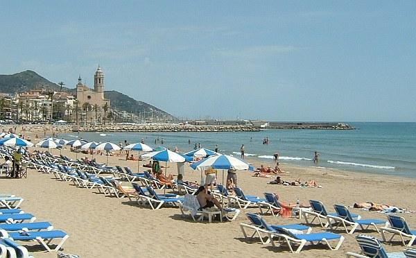 Sitges tengerpart, strand