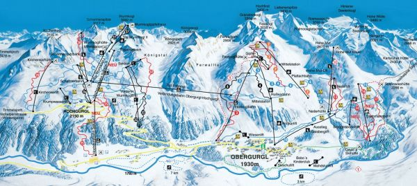 Obergurgl sípálya és felvonó rendszer