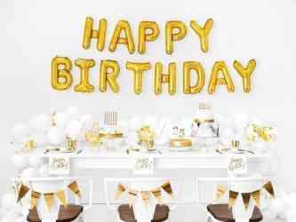 Serwetki Happy Birthday, biały, 33x33cm3