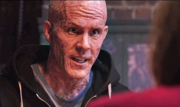 Deadpool (Ryan Reynolds) po kuracji antyrakowej