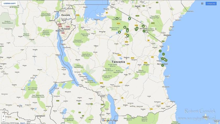 Najczęściej odwiedzane miejsca w Tanzanii