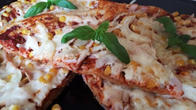 Tepsis szénhidrátcsökkentett pizza