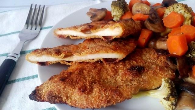 Diétás rántott csirkemell sütőben sütve