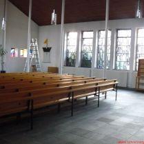 A templom kipakolás előtt a kilenc paddal