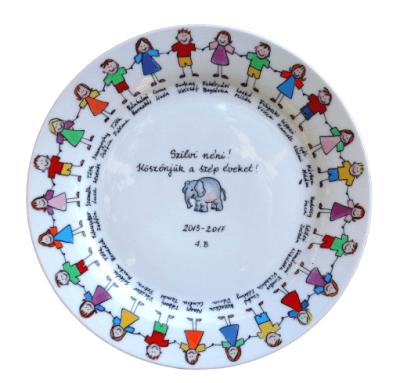 Ballagási tányér gyerekekkel