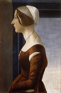 Sandro Botticelli (Alessandro di Mariano Filipepi) (1445-1510) Portret Clarice Orsini