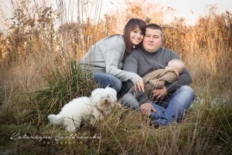 Sesja rodzinna w Krakowie.Zdjęcia w plenerze wykonał fotograf rodzinny.