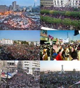 Arab tavasznak nevezik a 2011 elején kirobbant kormányellenes tüntetéssorozatokat, amelyek az arab államokban törtek ki. (forrás: Wikipédia)