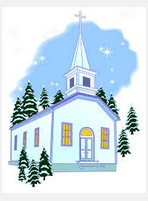 church snowy