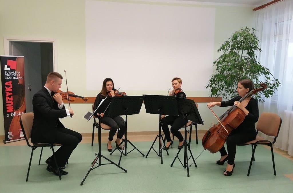 Koncert  Kwartetu smyczkowego Suwalskiej Orkiestry Kameralnej