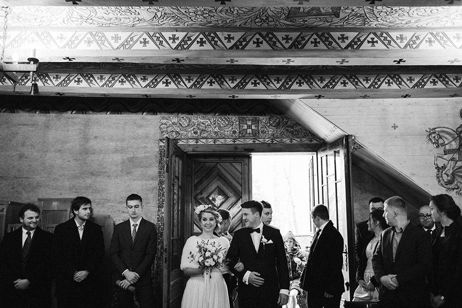 Klimatyczny ślub w kościele św. Jakuba w Szczyrku