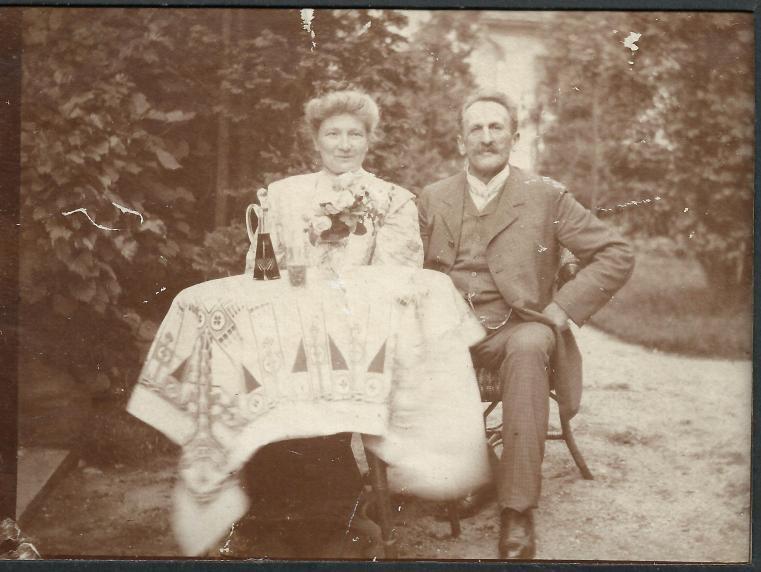 Juliusz i Berta w Rybniku chyba 1905 rok