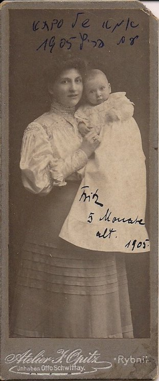 Sonia zona Feliksa z synem Ernstem 1905 rok