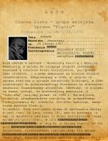 Pierwsza strona akt niegdysiejszego urzędnika Kolei Galicyjskich. Zastanawia wysoki stopień utajnienia już od strony drugiej.