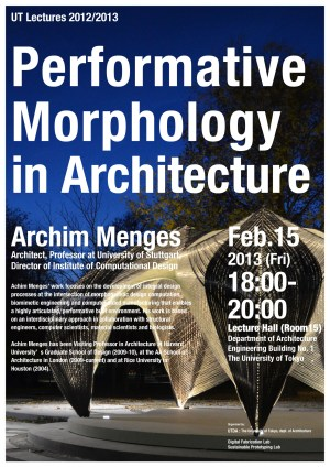 archim menges performative morphology in architecture lecture university of tokyo advanced design studies