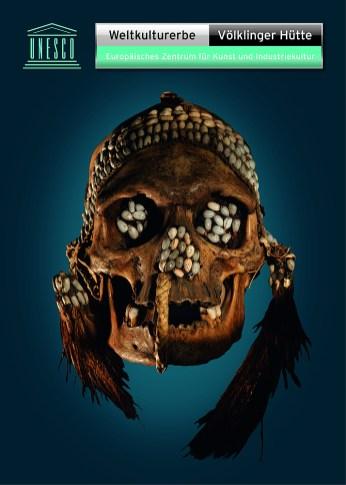 Ahnenschädel der Asmat, Papua-Neuguinea, 1900. Knochen, Schnecken, Federn, Höhe: 25 cm, rem Mannheim © Weltkulturerbe Völklinger Hütte / Jean Christen / Glas AG