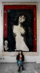 Gemälde nach Munchs Madonna