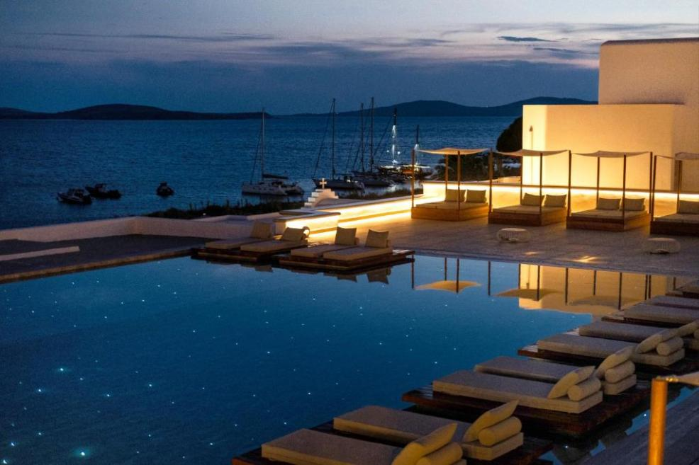 The swimming pool at or close to Manoula's Beach Mykonos Resort