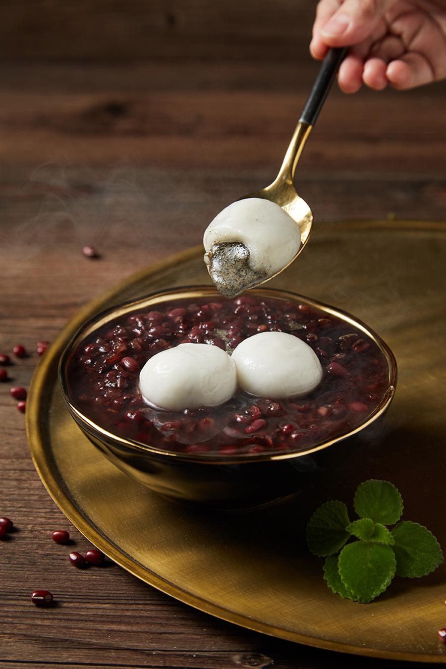 018 紫米紅豆粥芝麻湯圓-3