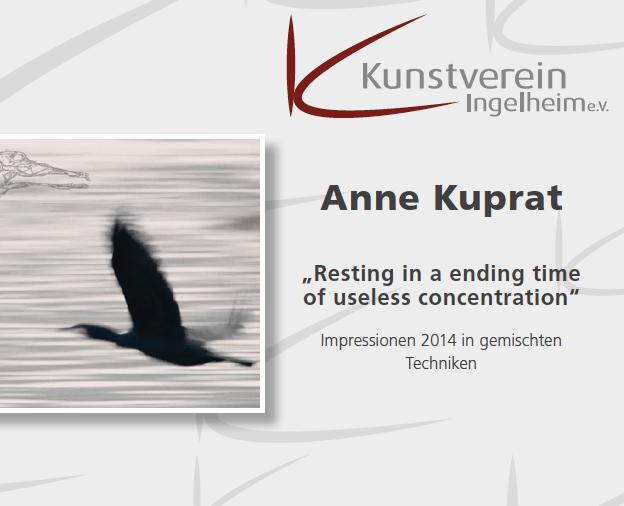 Ausstellung Anne Kuprat 18.01.2015 Ingelheimer Kunstverein