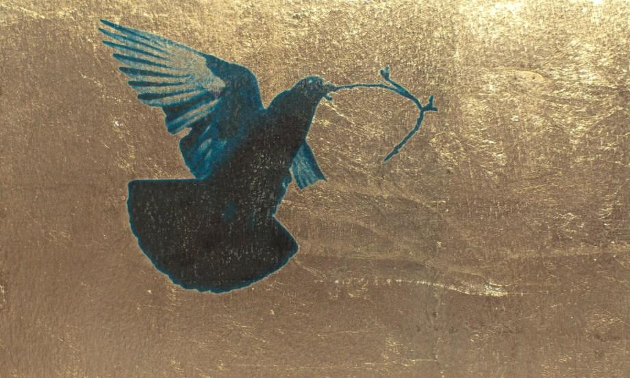 Friedenstaube-Goldgrund