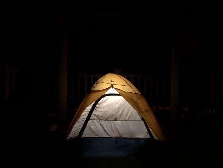 上ノ国町パーキング台の展望でキャンプ