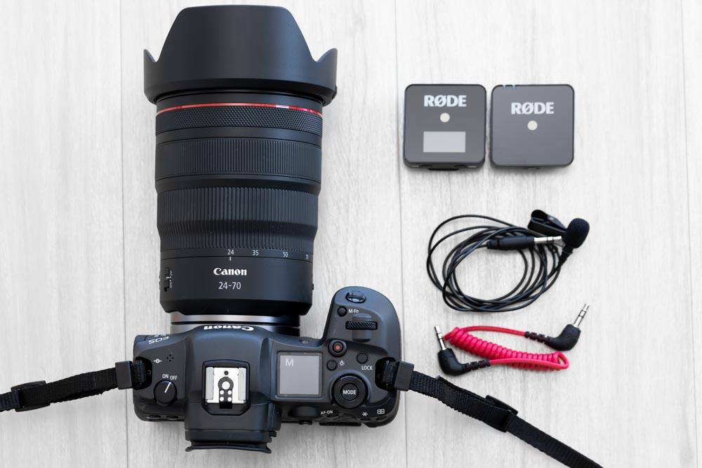 インタビュー動画撮影の機材はEOS R5&RF24-70mm&ワイヤレスゴー