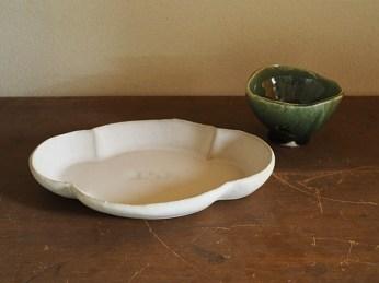 約21cmの雲形皿と小鉢