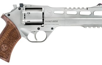 CHIAPPA RHINO 6″ 60DS Revolver *COMBO* Dual Cylinder | Nickel | .357 Magnum/.38 Special | 9mm (340.224combo)
