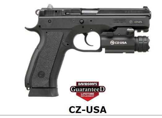 CZ 75 SP-01 PHANTOM | Black Polymer | 9mm | 18rd | Decocker | w/ Nebo light  (CZ91259) | T-Rex Small Arms