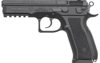 CZ 75 SP-01 PHANTOM   Black Polymer   9mm   18rd   Decocker (CZ91258)
